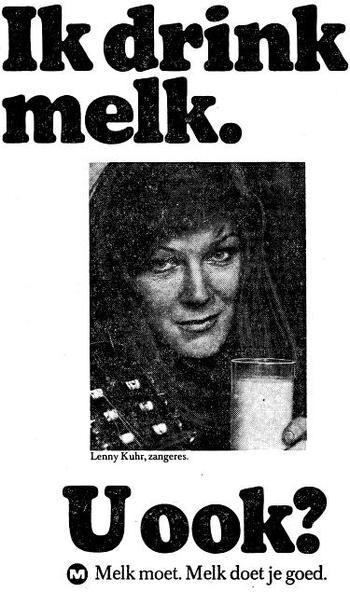 Melkreclame uit jaren 70