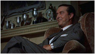 """Camerastandpunt vanaf de vloer in Hitchcocks """"Dial M for Murder""""."""