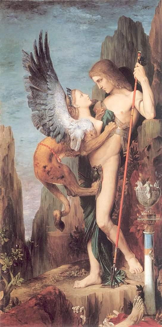 Gustave Moreau, Oedipus en de sfinx, 1864.