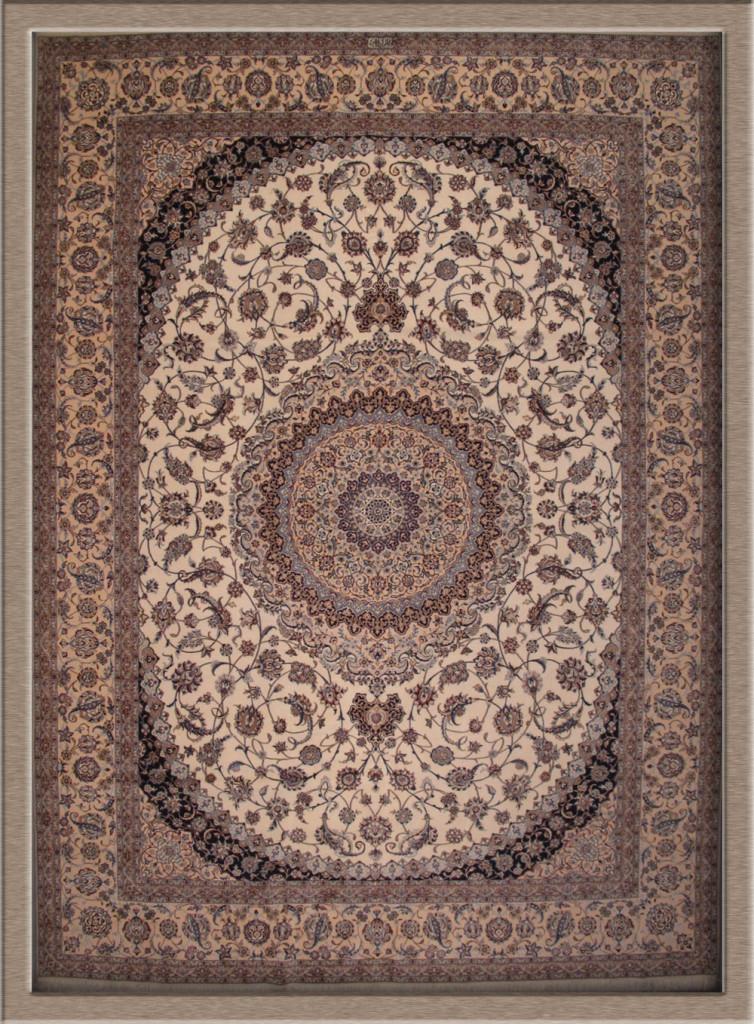 Ivoorkleurig tapijt uit Nain, provincie Ispahaan (Iran).