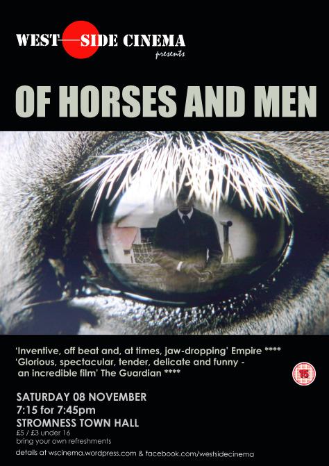 Filmposter met reflecterend paardenoog