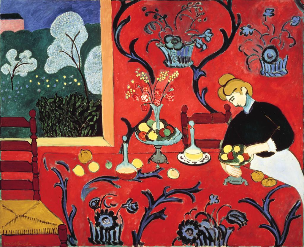 Matisse, 'La Desserte rouge', 180 × 220 cm, 1908.