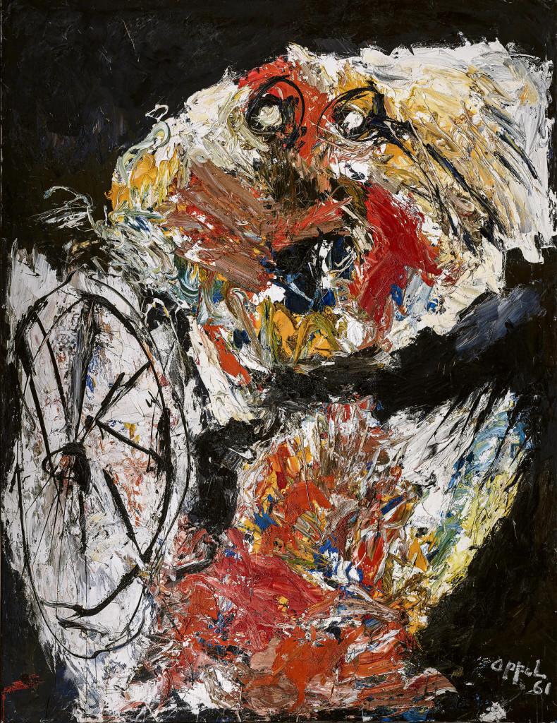 'Vlammend Kind met Hoepel', 1961. Klik om te vergroten.