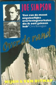 Omslag van 'Over de rand' van Joe Simpson
