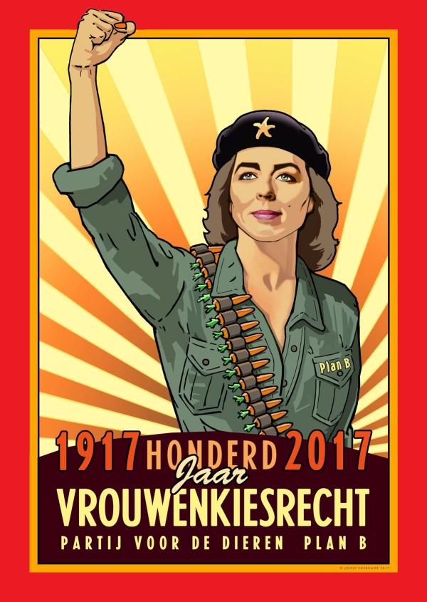 Verkizeingsaffiche PvdD Joost Veerkamp