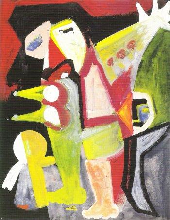 Jan Elburg, z.t., gouache, 64,5 x 49 cm, 1953.