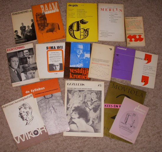 Omslagen van uiteenlopende tijdschriften met publicaties van Rudy Cornets de Groot