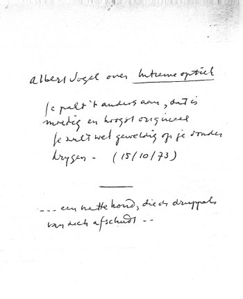 Opmerking van Albert Vogel