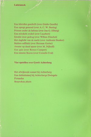 Rectozijde omslag 'Labirinteek'