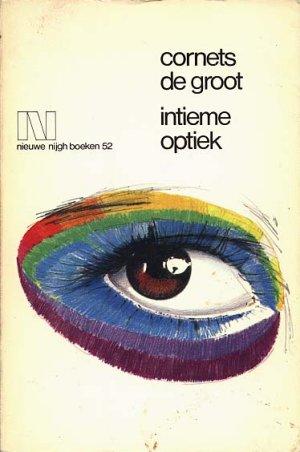 Versozijde van het omslag van 'Intieme optiek'