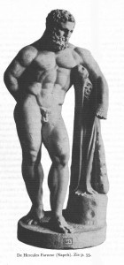 De Hercules Farnese (Napels). Zie p. 55.