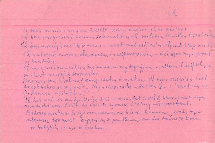 systeemkaart met tekst 'Ik' in handschrift