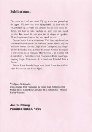 Binnenzijde nieuwjaarskaart voor 2013 van Michèle Elburg-Gaarkeuken