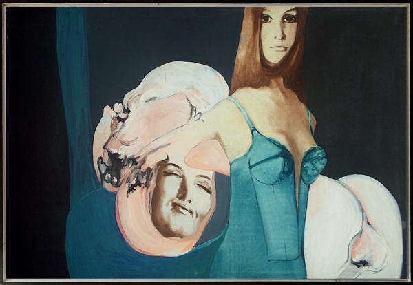 Peter Jansen, 'Rosy', 1966, 150 x 100 cm, olieverf op doek. © Peter Jansen, http://peter-jansen.com.
