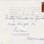 Versozijde enveloppe Lucebert 1979