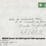 Rektozijde enveloppe Lucebert 1978