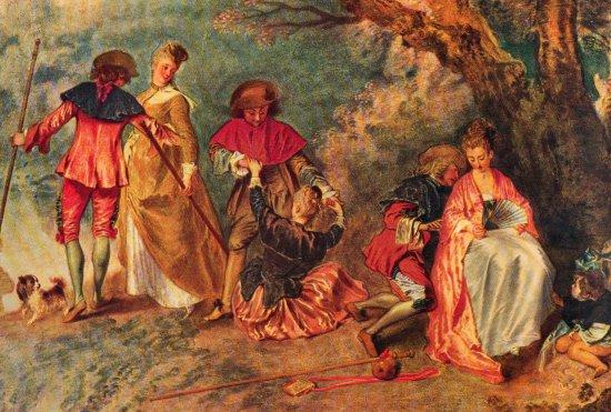 Jean Antoine Watteau, Embarquement pour Cythère (fragment).