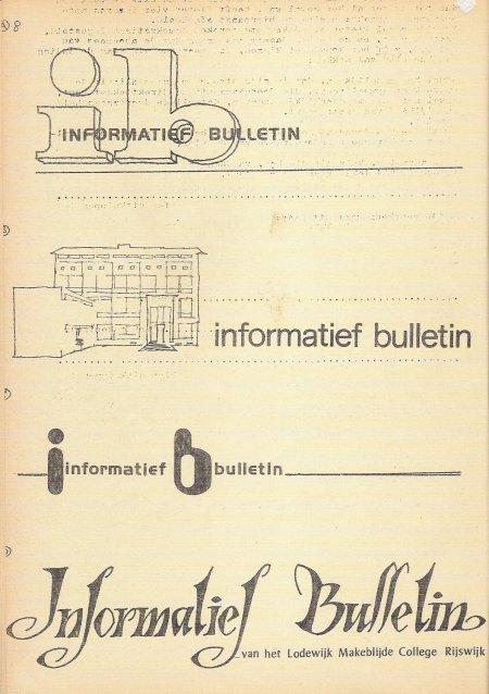 Vier logo's voor het Informatief Bulletin