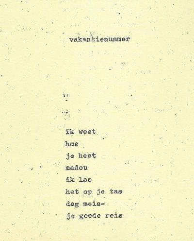 Gedicht van Jan Elburg