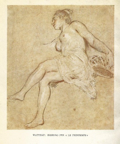 Tekening van Antoine Watteau uit 'Il Nudo nel Disegno'.