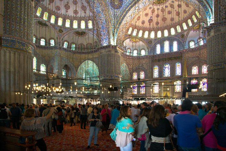 Blauwe moskee, Istanboel.