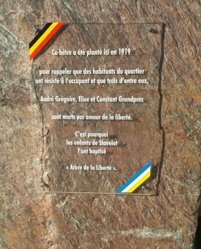 Gedenksteen voor André Grégoire